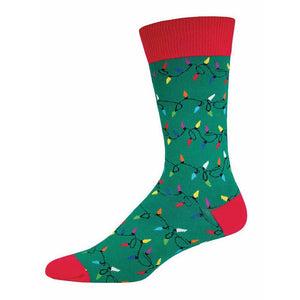 Socksmith Christmas Lights - Men's - GREEN