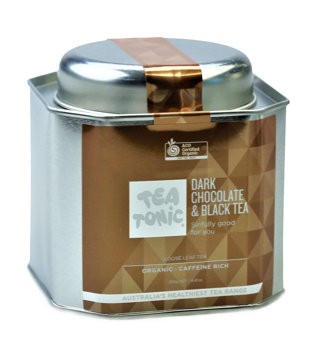 Dark Chocolate & Black Tea Loose Leaf Caddy Tin