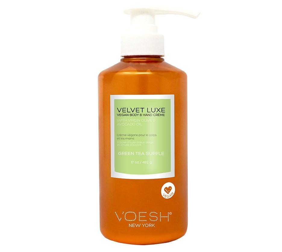 Voesh Velvet Luxe Vegan Body & Hand Creme Green Tea Supple - 482g Pump Bottle