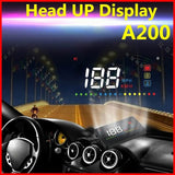 New Arrival 3.5Inch HUD Projector Head Up Display Speed Warning Fuel OBD II Speedometer