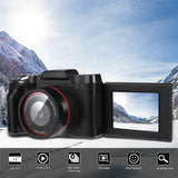 Digital Full HD 1080P 16MP Flip Selfie Camera Professional Video Camcorder