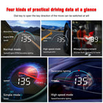 Car HUD Head Up Display OBD2 OBDII Over Speed Warning System Projector