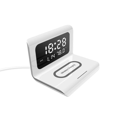 Creative Clock Multifunctional Three-in-one Mobile Wireless Charging Alarm Clock