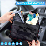 Signal Blocking Bag Faraday Bag Shield Cage Pouch Wallet Phone Case for Cell Phone