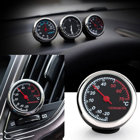 Round Shape Car Automobile Digital Clock