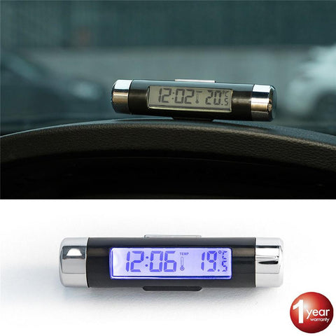 Car Air Outlet Thermometer Electronic Clock