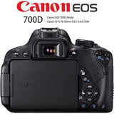 Canon 700D / Rebel T5i DSLR Digital Camera with 18-55mm Lens -18 MP  -Full HD 1080p Video