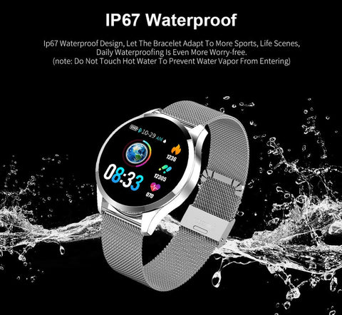 2019 New Q8 Q9 Smart Watch Fashion Electronics Men Women Waterproof Sport Tracker Fitness Bracelet Smart Watch