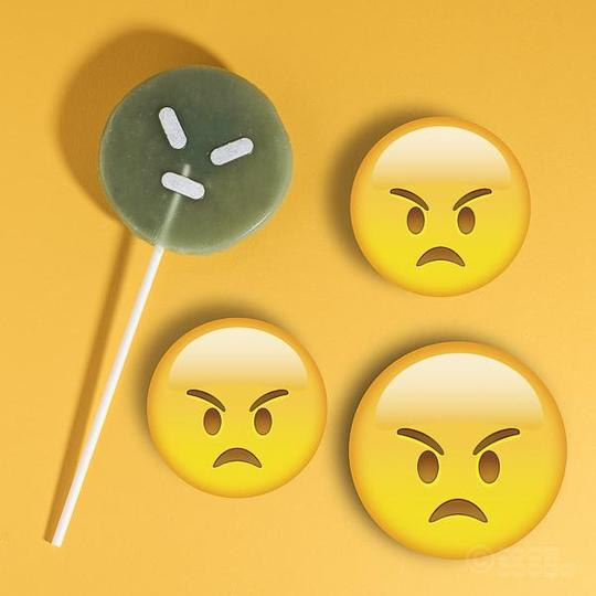 Joob Joobs angry emoji candy lollipop