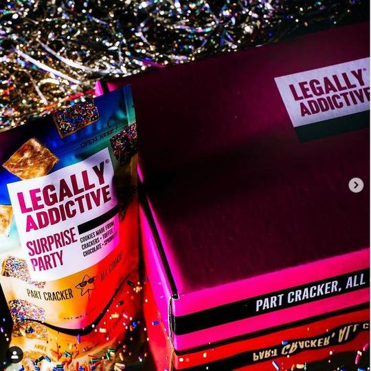 Legally addictive surprise party    lifestyle