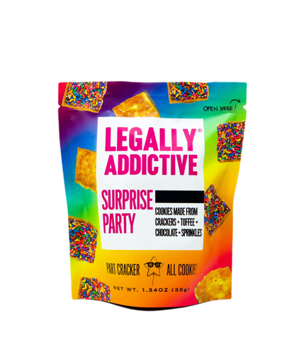 Legally Addictive Surprise Party Cracker cookie
