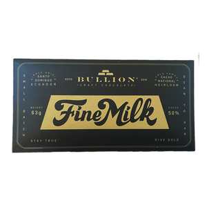 Bullion Craft Chocolate Fine Milk
