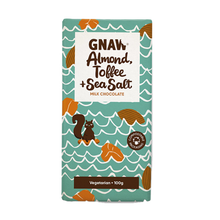 Load image into Gallery viewer, Almond, Toffee & Sea Salt Milk Chocolate Bar  Edit alt text