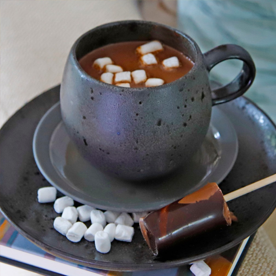 Hazelnut Hot Chocolate Shot With Mini Marshmallows