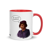 "Mug with Villagers - ""Please hurry ..."""
