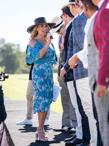 Adam Heath & Bentley Polo In The Valley's Fashions on the field