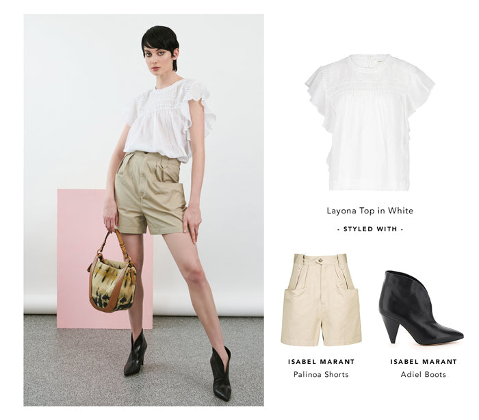 Isabel Marant Layona Top in White