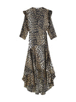 CALLA SILK WRAP DRESS IN LEOPARD