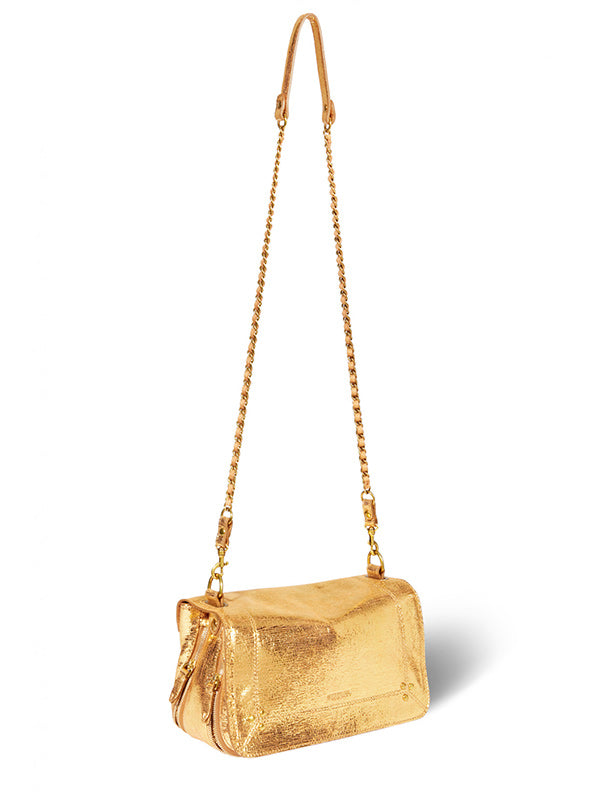 Jerome Dreyfuss Bobi Bag in Lame Or