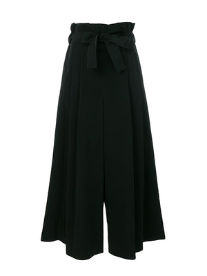 WIDE LEG TIERED TROUSER IN BLACK