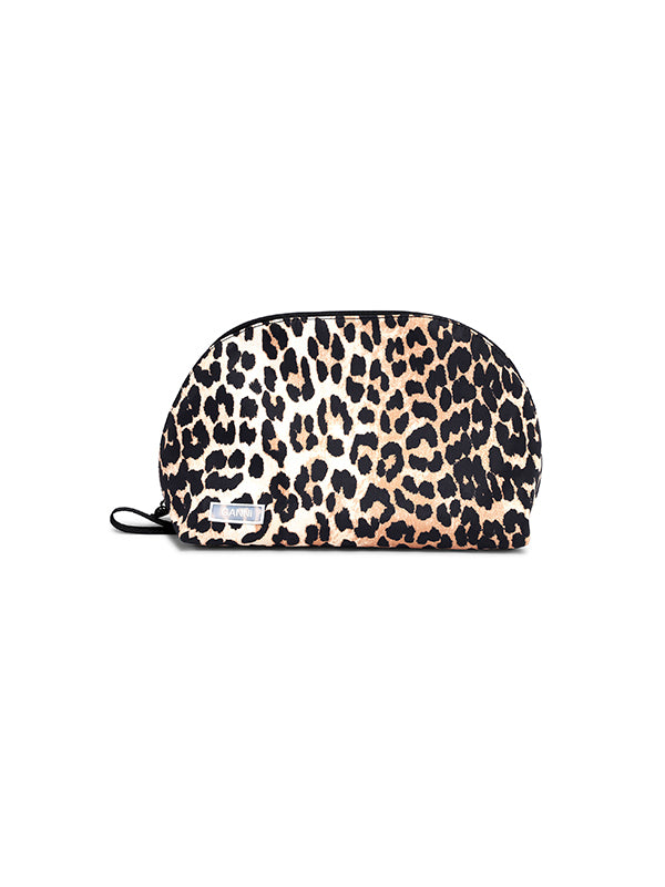 Ganni Recycled Tech Vanity Bag in Leopard