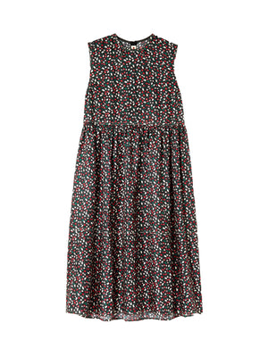 Empire Cut Dress in Silk Twill Liz Print
