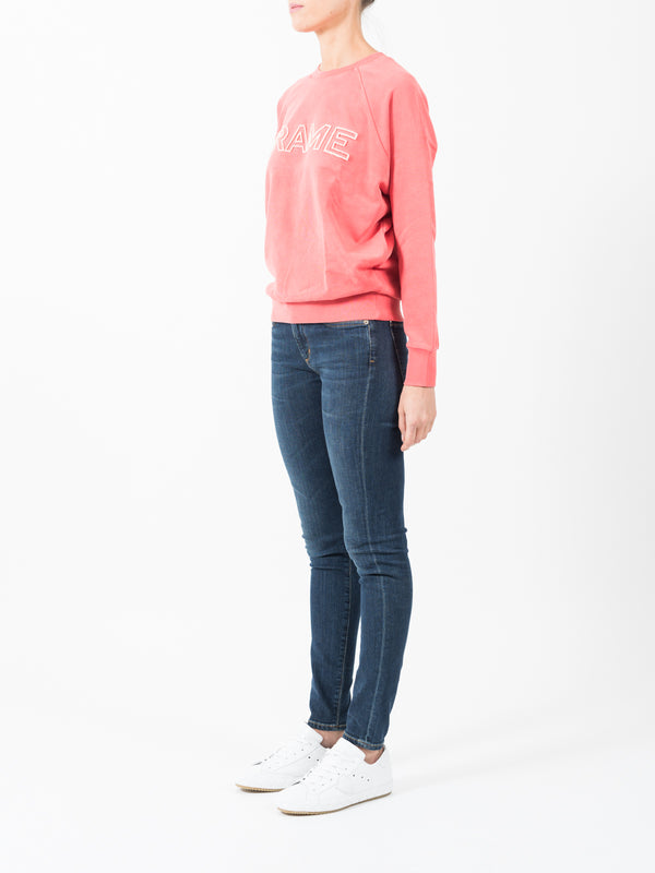 RAGLAN SWEATSHIRT IN SUMMER RED