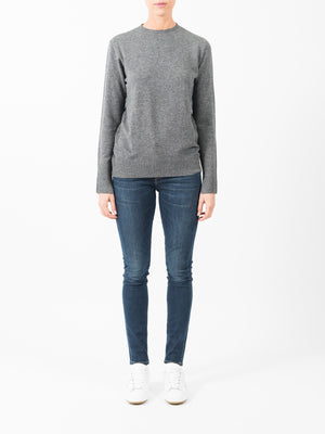 WOOL CASHMERE BASIC KNIT IN CHARCOAL