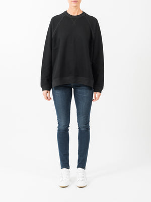 VINCE RAGLAN SWEATER IN BLACK