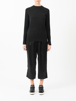 WOOL CASHMERE BASIC KNIT IN BLACK
