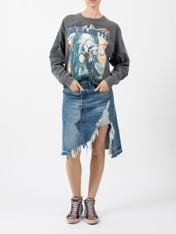 NORBURY DENIM SKIRT IN JASPER