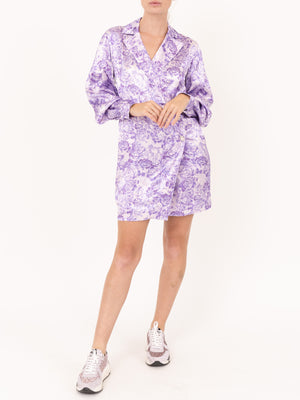 Ganni Coat Dress in Violet Tulip