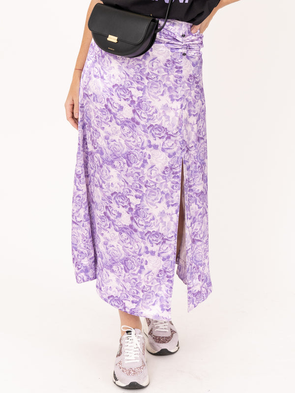 Maxi Skirt in Violet Tulip