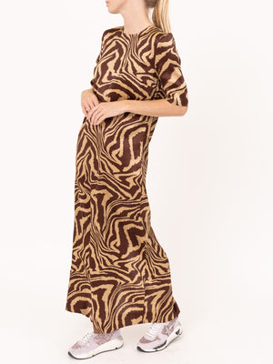 Ganni Maxi Dress in Tannin