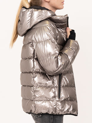 HERNO Metallic Puffer Jacket