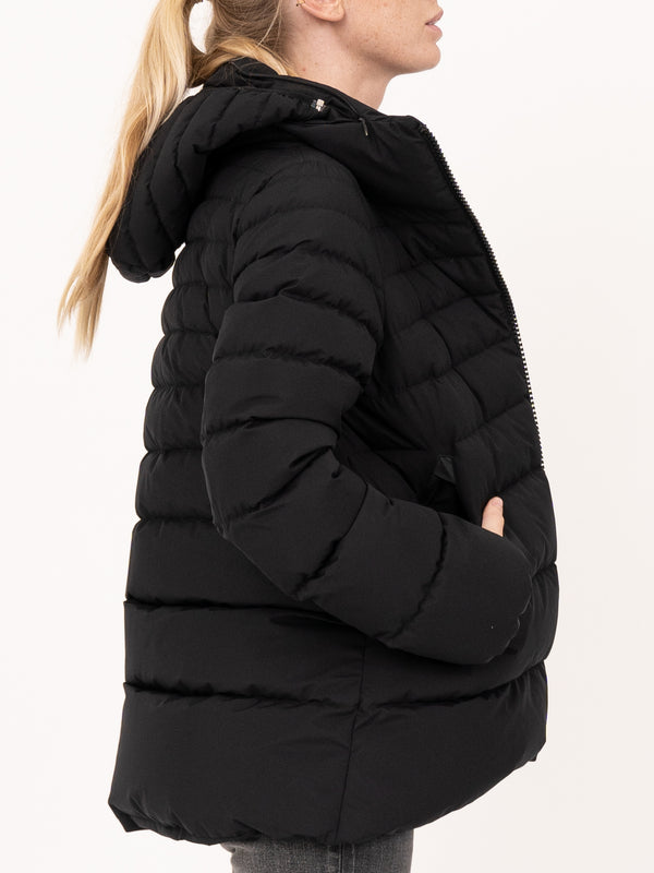HERNO Black Hooded Puffer Jacket
