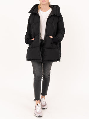 HERNO Black Mid Length Hooded Jacket