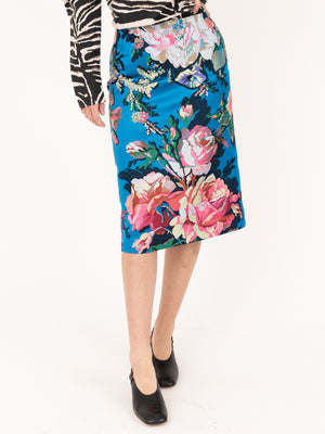Dries van Noten Salby Tris Skirt in Blue
