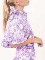 Ganni Top in Violet Tulip  | FREE EXPRESS SHIPPING IN AUSTRALIA
