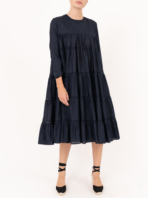 Merlette Midi Length Dress in Navy