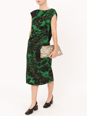 Dries Van Noten Deto Dress in Green