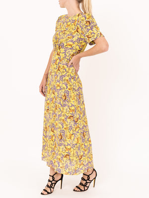 Saloni Bianca Dress in Citrus Jungle Monkey