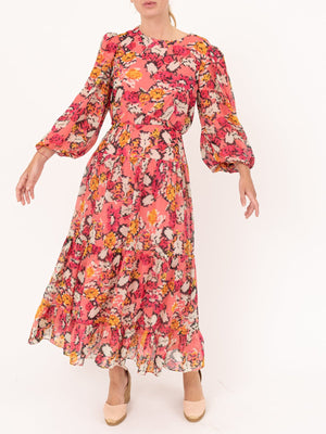 Saloni Isabel Dress in Valentine Damask