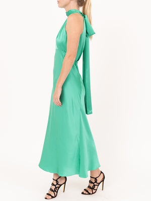 Saloni Michelle Midi Dress in Aloe