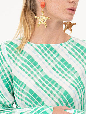 Kristina starfish drop earrings