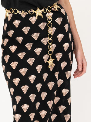 Kelly Skirt in Gold Foil Shell
