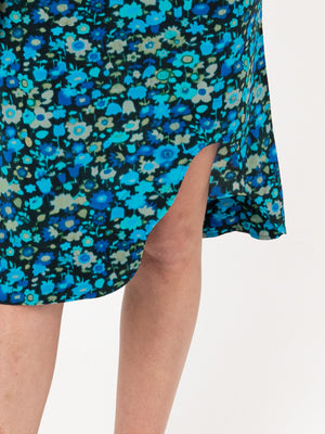 Silk Skirt In Azure Blue