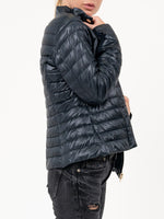 Fitted Goose Down Jacket in Navy