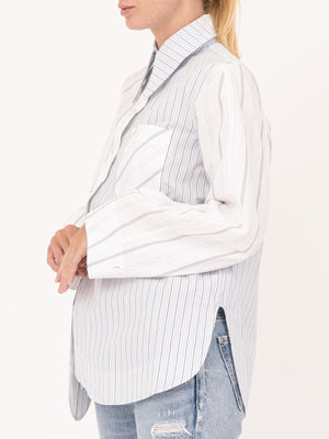 Ganni Cotton Shirt In Stripe