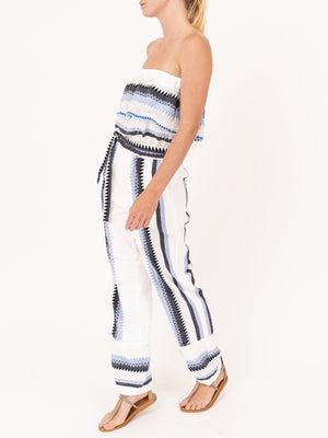 LemLem Aster Ruffle Jumpsuit in Steel Blue
